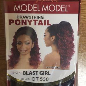 Blast Girl Draw string Ponytail Color OT530 New